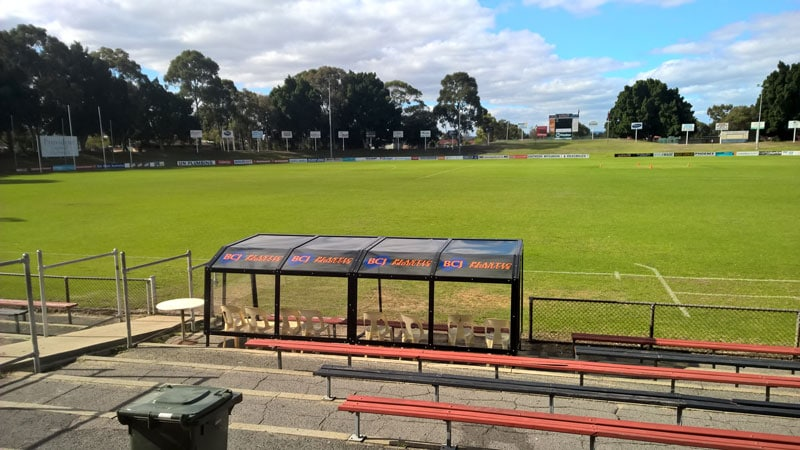 Perth Football Club Players Shelter BCJ Plastic Products
