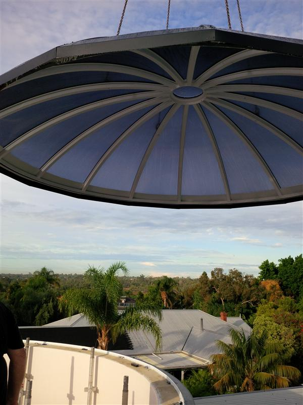 Dome fitting on House BCJ Plastic Products