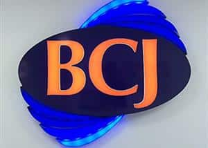 BCJ Plastic Products Front Office Signage
