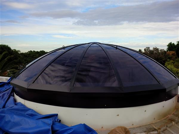 Installation of Dome on House BCJ Plastic Products